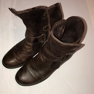 BARETRAPS Women's Leather Ankle Boots Sz 8 M